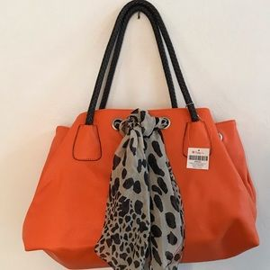 NWT Penelope Ann Orange Bag With Scarf